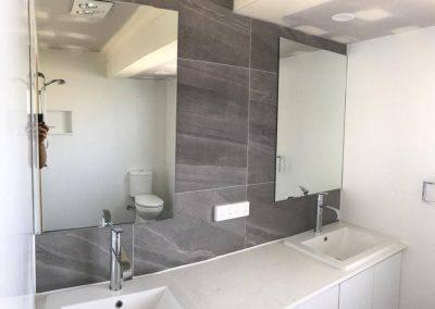 Jindalee Grey Tile Bathroom with Dual Basin Vanity Uit