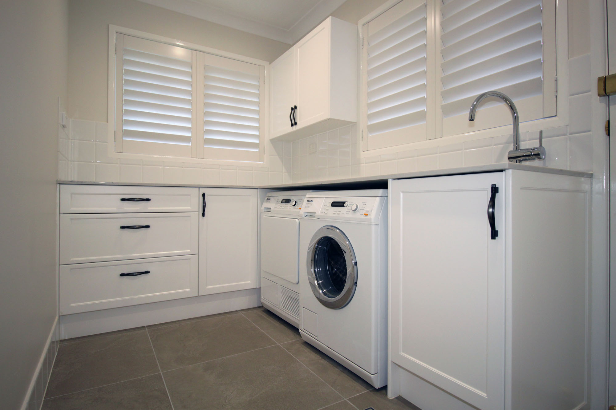 Laundry Renovations - Brisbane Builder Bathroom and Kitchen design