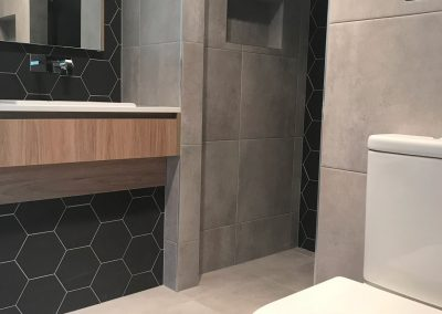 Concrete Hexagon Ensuite
