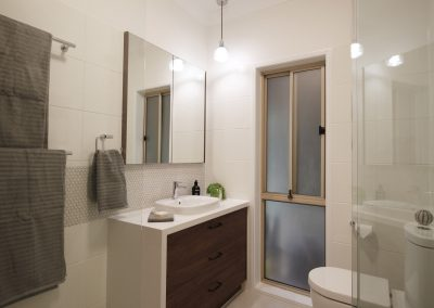 Pullenvale Ensuite with Semi Recessed Basin and Shaving Cabinet