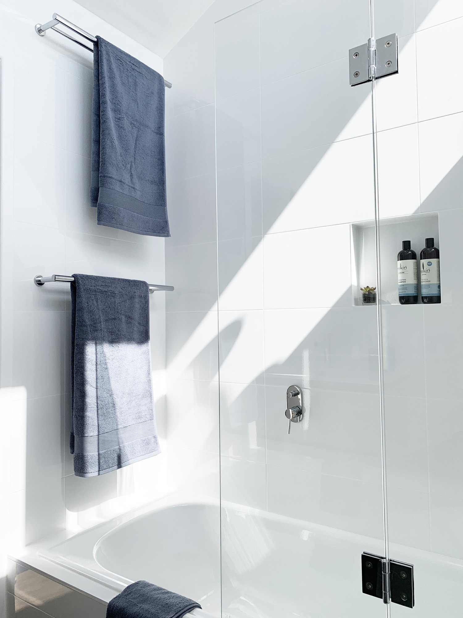 Towel Rails over Bath