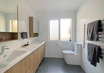 Chevron Decorative Textured Tiles - Heated Towel Rail for Warm Towels