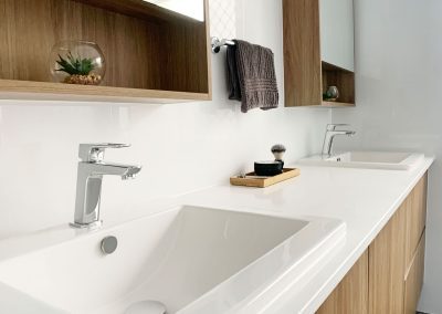 Shaving Cabinets with Shelving - Dual Vanity Unit with Storage