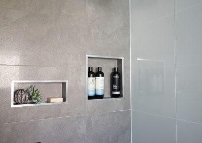 Dual Shower Niches - Rain Water Shower Head