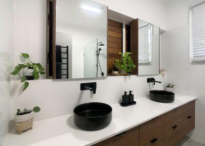 Dual Basins, Taps & Cabinets - Storage Drawer Vanity Unit