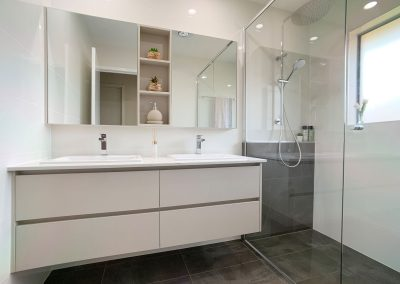Wall Hung Vanity Unit - Shower Shelf for cleansing products