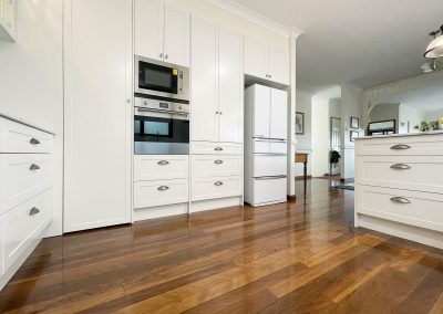 Appliance Wall - Extra Height Cabinetry avoiding dust collection
