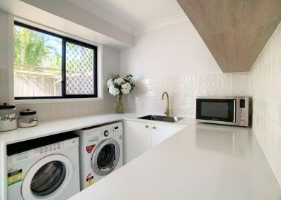 Laundry Space - Appliances in the butler's pantry