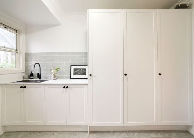 2 Pac White Laundry Cabinetry