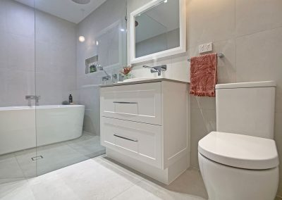 Wet Room Style Bathroom - Framed Mirror