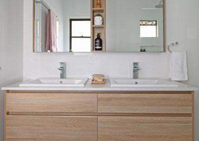 Twin Vanity Unit - Dual Basins and Shaving Cabinets