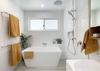 Wet Room Style Bathroom - Bath and Shower Niches