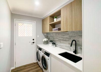 Woodgrain & White Laundry